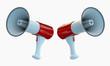 red megaphones