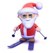 Santa is on his skis
