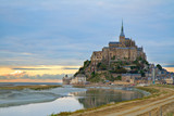Mont Saint Michel at sunset , France