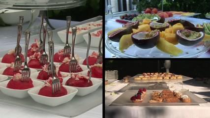 festa catering collage desser frutta antipasto