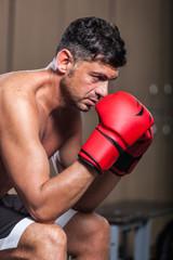 Boxer in the Locker Room