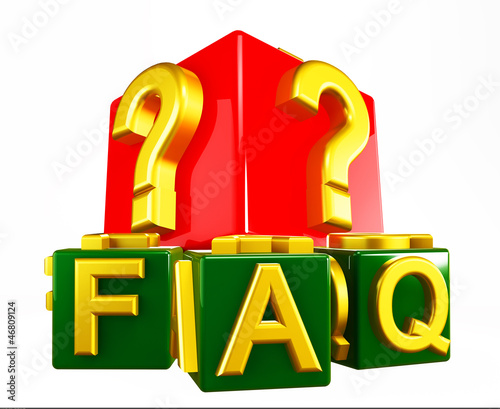 FAQ - frequently asked questions isolated on white