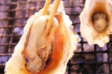 焼き牡蠣のポン酢かけ
