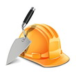Vector trowel and helmet