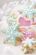 Pastel colored cookies