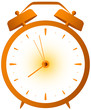 cartoon isolated red retro alarm clock