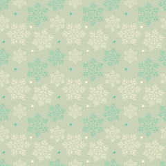 Beautiful Vintage Christmas seamless pattern with snowflakes