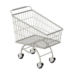 Shopping cart. Isolated on a white