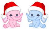 Christmas baby elephants