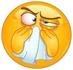 Wiping nose emoticon