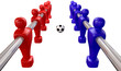 Foosball Kickoff Top Isolated
