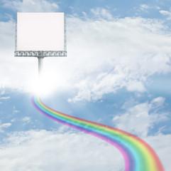 Sign on rainbow way