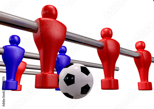 Foosball Kickoff Front Isolated