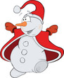 Christmas Snowball. Cartoon Snowball