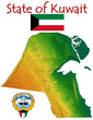 Kuwait Middle East Asia national emblem map symbol motto