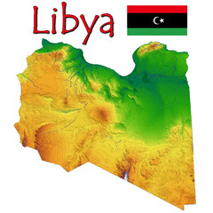 Libya Africa national emblem map symbol motto