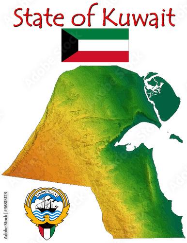 Kuwait Middle East Asia national emblem map symbol motto