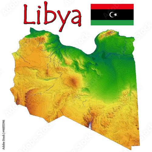 Libya Africa national emblem map symbol motto