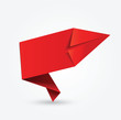 étiquette vierge rouge : origami
