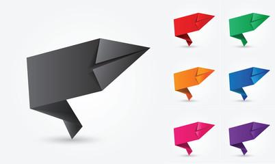 étiquettes vierges promo : origami