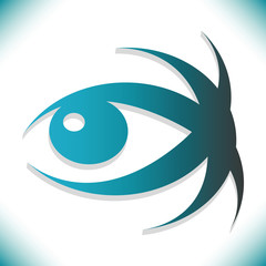 Striking 3D eye design with copy space.