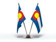 Miniature Flag of Colorado (Isolated)