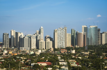 fort bonifacio skyline makati city manila philippines