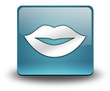 "Light Blue 3D Effect Icon ""Mouth / Lips Symbol"""