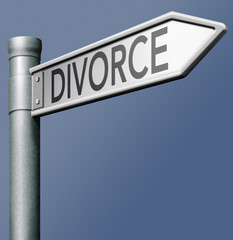 divorce road sign