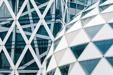Modern architecture, made of glass and steel