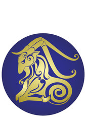Capricorn. Astrology sign. Vector zodiac