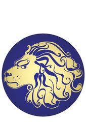 Lion. Astrology sign Leo. Vector zodiac