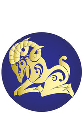 Aries. Astrology sign. Vector zodiac
