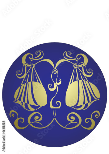 Libra. Astrology sign. Vector zodiac