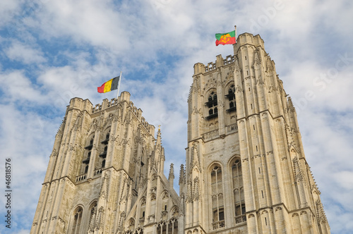 Top of the Cathedral of St. Michael and St. Gudula