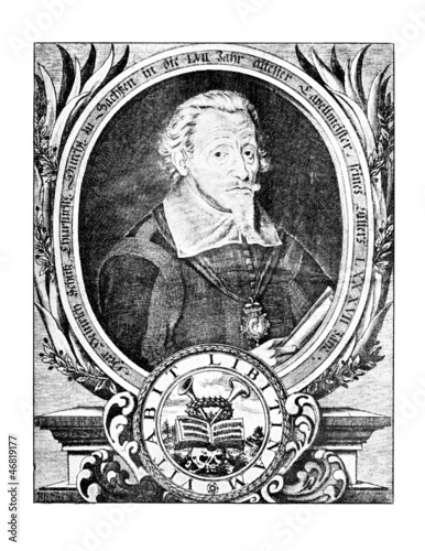 Portrait of german composer Heinrich Schütz