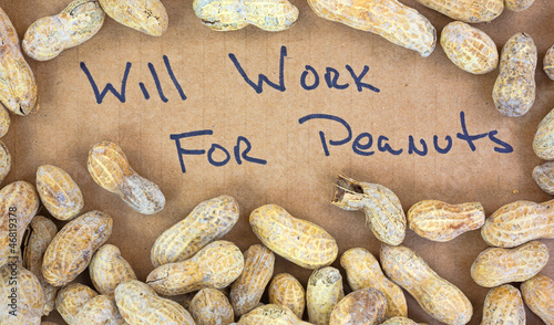 Peanuts with work sign