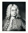Portrait of composer George Frideric Handel