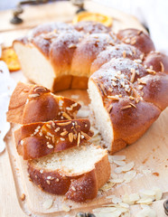 Sweet braided bread