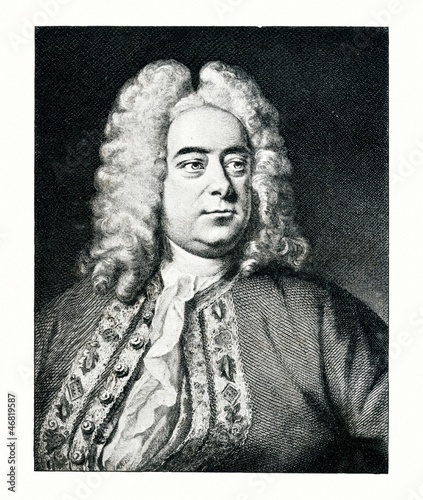Portrait of composer George Frideric Handel