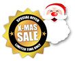 "Star-shaped Sticker ""X-Mas Sale"""