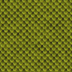 Green lizard skin seamless background or texture
