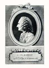 Portrait of composer Jean-Philippe Rameau