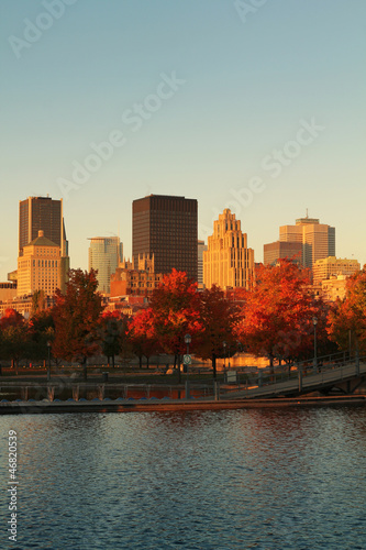 Montreal city in autumn