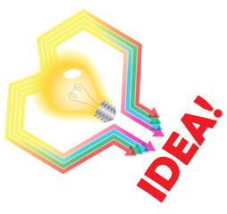 Idea abstract concept illustration
