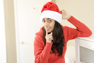 Portrait of beautiful Christmas girl