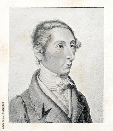 Portrait of german composer Weber