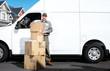 Delivery postal service man.