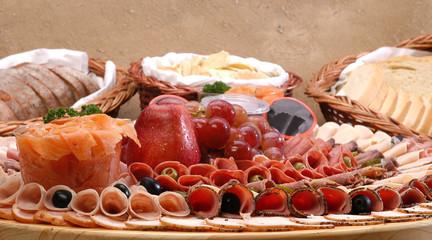 Food display gourmet.