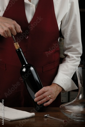 Sommelier in action